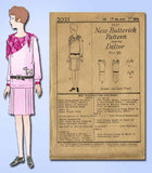 1920s Vintage Butterick Sewing Pattern 2021 Uncut Girls Flapper Dress Size 10 - Vintage4me2