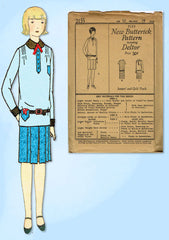 1920s VTG Butterick Sewing Pattern 2155 Uncut Little Girls Flapper Dress Sz 12