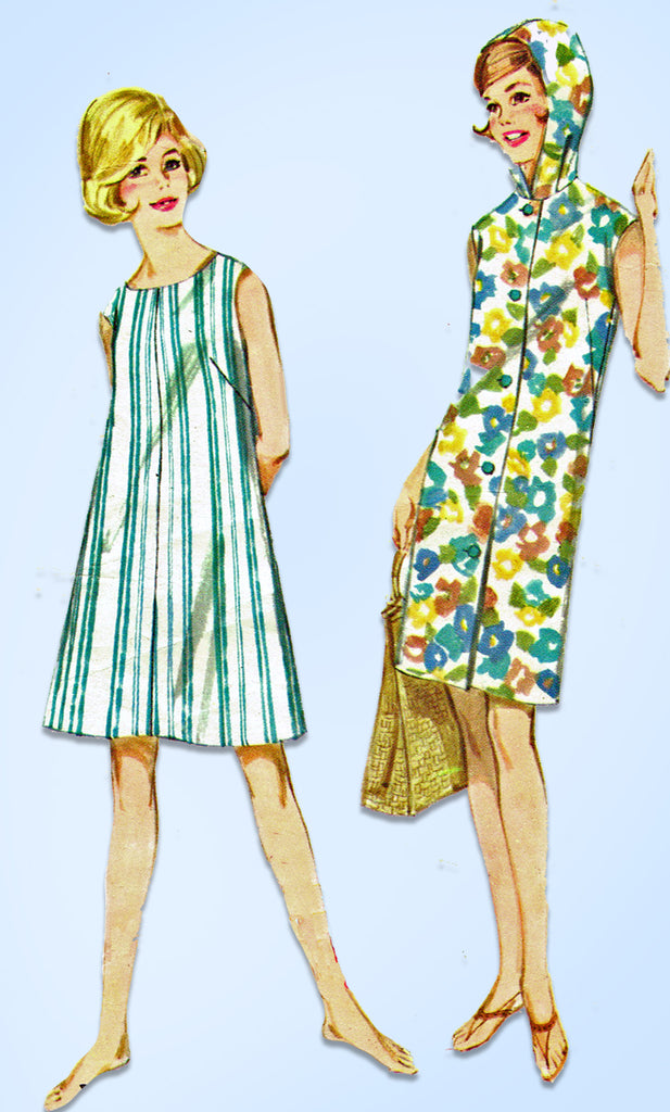 1960s VTG Butterick Sewing Pattern 2678 Easy Misses Beach Dress or ...