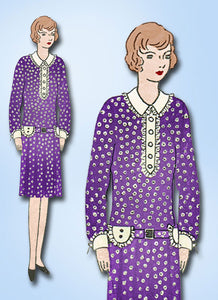 1920s Vintage Little Girls Flapper Dress Butterick VTG Sewing Pattern 2724 Sz7 - Vintage4me2