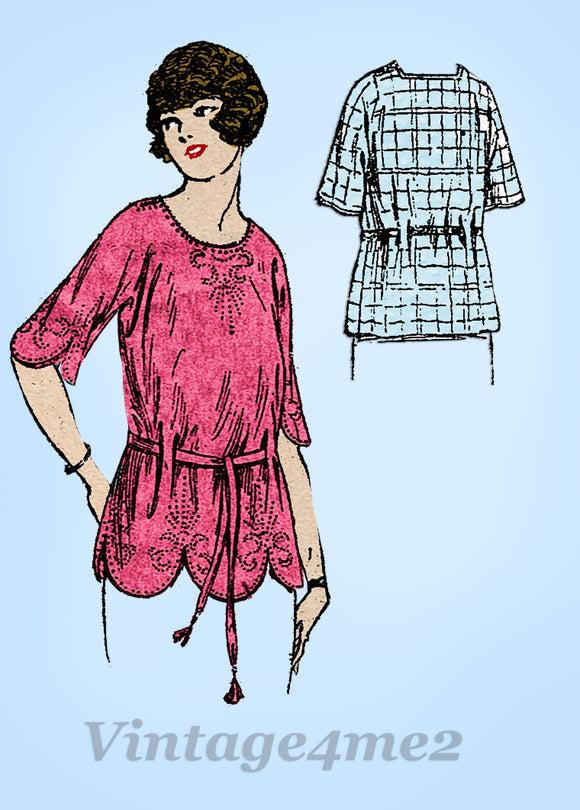 Butterick 2967: 1920s Misses Easy 1 Piece Blouse Sz 36 B Vintage Sewing Pattern - Vintage4me2