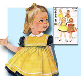 1960s Vintage Butterick Sewing Pattern 3024 Toddler Girls Dress & Smock Size 2 from Vintage4me2