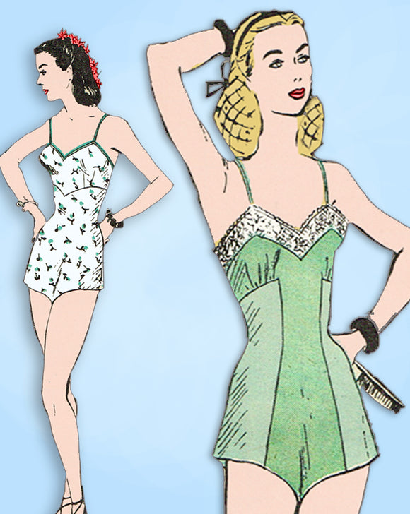 1940s Vintage Butterick Sewing Pattern 3136 Misses WWII Chemise Lingerie Sz 32 B