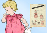 1940s Vintage Butterick Sewing Pattern 3283 Cute Toddler Girls WWII Dress Size 4 - Vintage4me2