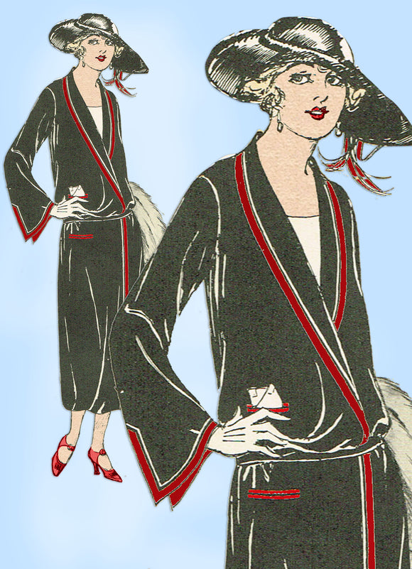 Butterick 3869: 1910s Uncut Misses Surplice Dress Sz 36 B Vintage Sewing Pattern - Vintage4me2