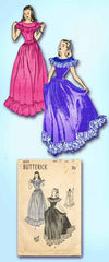 1940s Vintage Butterick Sewing Pattern 4005 Misses WWII Prom Dress or Gown 30 B - Vintage4me2