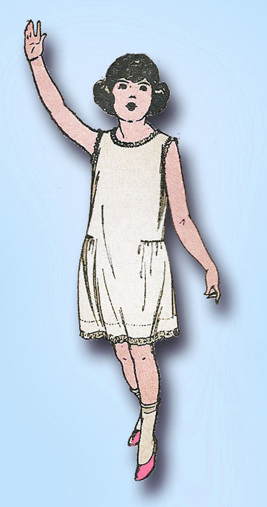 1920s Vintage Butterick Sewing Pattern 4159 Easy Little Girls Slip Size 12 29 B - Vintage4me2