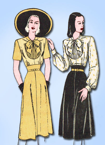 1940s Vintage Butterick Sewing Pattern 4170 Misses Street Dress Size 14 32B ORIG - Vintage4me2