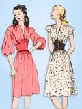 1940s Original Vintage Butterick Pattern 4181 Stunning Uncut Misses Dress Sz 32B