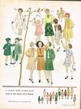 1930s Vintage Butterick Sewing Pattern 4200 Darling Toddler Girls Dress Size 6