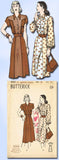 1940s Vintage Butterick Sewing Pattern 4202 Uncut Misses Petite Dress Size 34 B - Vintage4me2