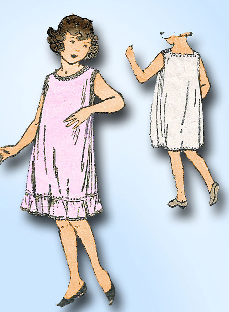 1920s Vintage Butterick Sewing Pattern 4205 Little Girls Princess Slip Size 8