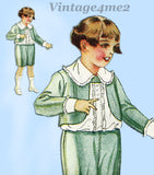 Butterick 4380: 1940s Rare Sweet Baby Boys Suit Size 3 Vintage Sewing Pattern