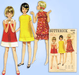 1960s Vintage Butterick Sewing Pattern 4441 Little Girls A Line Dress Size 7