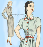 Butterick 4500: 1940s Misses Dress Raglan Sleeves 36B Vintage Sewing Pattern