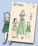 1940s Vintage Butterick Sewing Pattern 4517 Easy Girls Dirndl Sun Dress Size 12 - Vintage4me2
