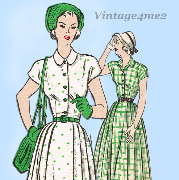 Butterick 4575: 1940s Misses Shirtwaist Dress Sz 34 Bust Vintage Sewing Pattern