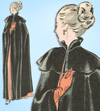 1940s Original Vintage Butterick Sewing Pattern 4591 Gorgeous Misses Cape Sz SM
