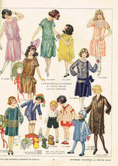 1920s Vintage Butterick Sewing Pattern 4739 Girls Wrap Around Coat Dress Sz 10