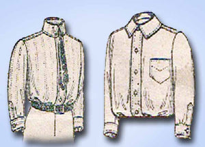 1910s Vintage Butterick Sewing Pattern 4979 Boys Blouse or Shirt w Back Yoke Sz8 - Vintage4me2