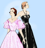 Butterick 5311: 1950s Glamorous Misses Dancing Dress 30B Vintage Sewing Pattern