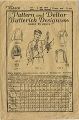 1920s Vintage Butterick Sewing Pattern 5406 Uncut Little Boy's Shirt Blouse Sz 6 - Vintage4me2