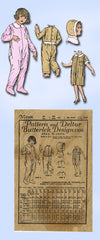 1920s Vintage Butterick Sewing Pattern 5506 Toddler Girls Pajamas with Hood Sz 5
