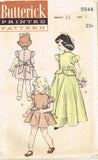 1950s Vintage Butterick Sewing Pattern 5544 Toddler Girls Peplum Dress Sz 4 23B