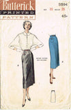 1950s Vintage Butterick Sewing Pattern 5594 Easy Misses' Skirt Size 26 Waist
