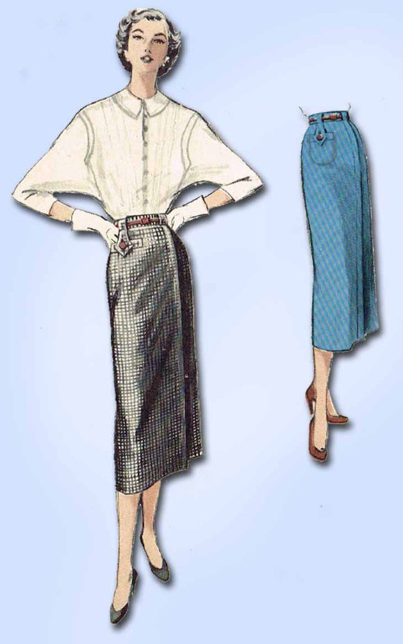 1950s Vintage Butterick Sewing Pattern 5594 Easy Misses' Skirt Size 26 Waist - Vintage4me2