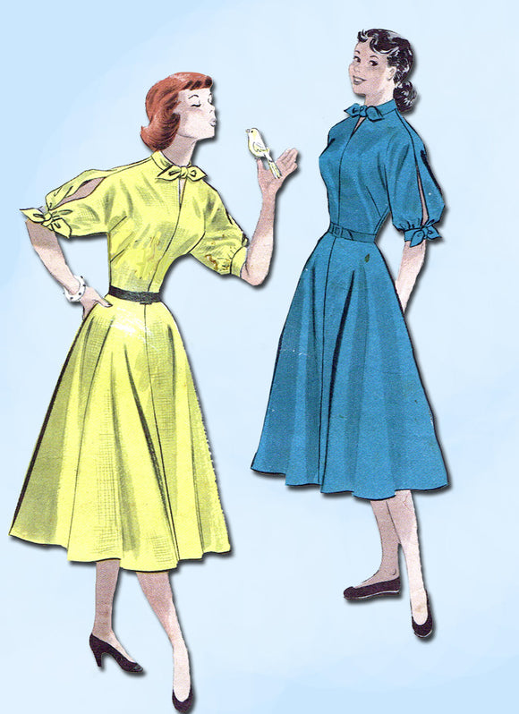 1950s Vintage Butterick Sewing Pattern 5634 Easy Misses Dress Size 16 34 Bust