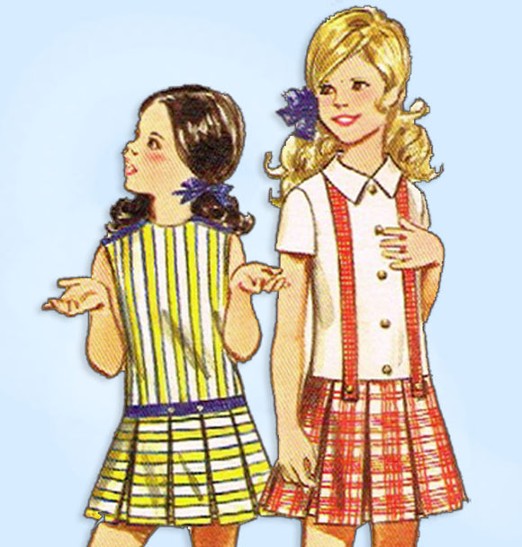 1960s Vintage Butterick Sewing Pattern 5665 Uncut Toddler Girls School Dress Sz6 -Vintage4me2