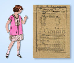 1920s Vintage Butterick Sewing Pattern 5693 Little Girls Flapper Dress Size 7