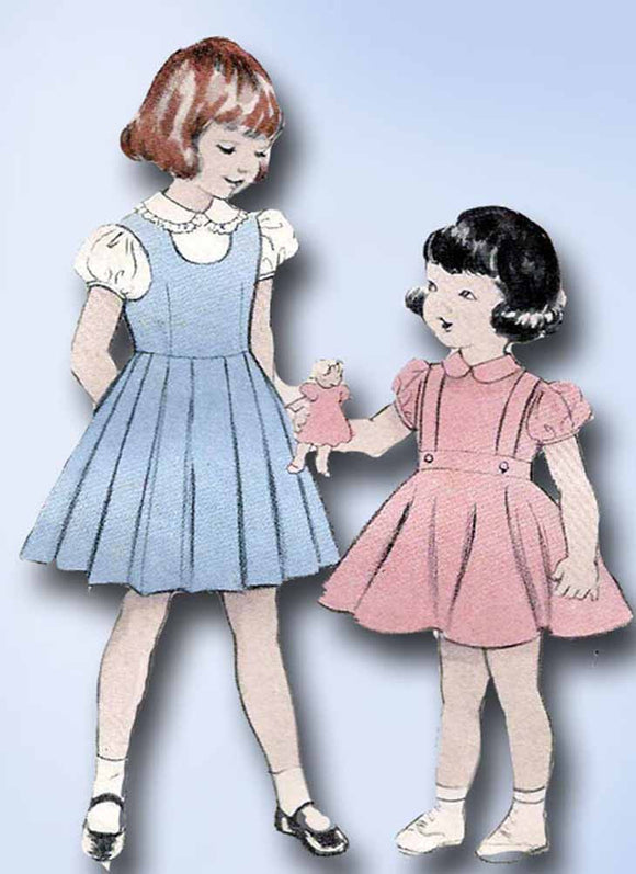 1950s Vintage Butterick Sewing Pattern 5750 Uncut Girls Skirt or Jumper Size 10