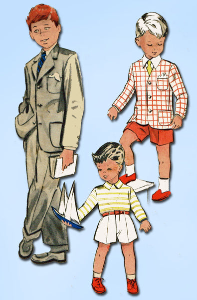 1960s Vintage Butterick Sewing Pattern 5838 Toddler Boys Suit Jacket & Pants Sz2