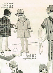 1920s Vintage Butterick Sewing Pattern 5847 Toddler Girls Flapper Coat Size 6 - Vintage4me2