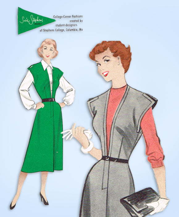 1950s Vintage Butterick Sewing Pattern 5904 Susie Stevens Jumper & Blouse 33 B