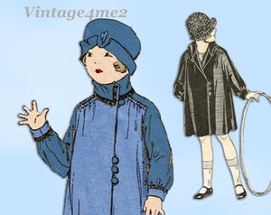 Butterick 6003: 1920s Toddler Girls Shirred Coat Size 6 Vintage Sewing Pattern