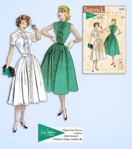 1950s Vintage Butterick Sewing Pattern 6049 Uncut Susie Stevens Dress Size 33 B