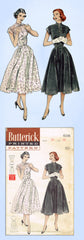 1950s Original Vintage Butterick Pattern 6106 Easy Uncut Misses Dress Sz 34 Bust
