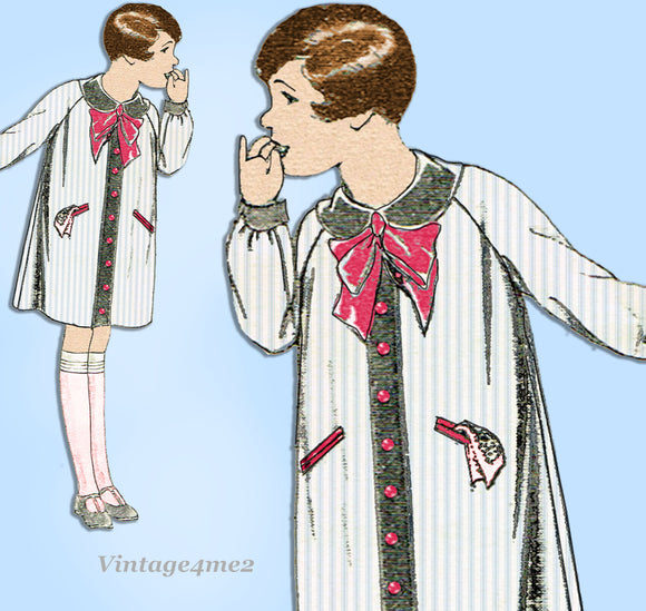 Butterick 6202: 1920s Toddler Girls Bloomer Dress Size 6 Vintage Sewing Pattern