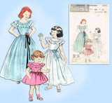 Butterick 6202: 1950s Uncut Little Girls Formal Gown Sz10 Vintage Sewing Pattern - Vintage4me2