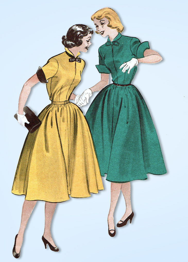 1950s Vintage Butterick Sewing Pattern 6225 Easy Uncut Misses Dress ...