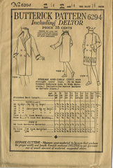 1920s Vintage Butterick Sewing Pattern 6294 Uncut Junior Girls Flapper Coat Sz14 - Vintage4me2