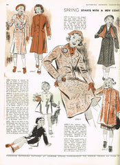 1930s Vintage Butterick Sewing Pattern 6711 Uncut Toddler Girls Coat Size 3