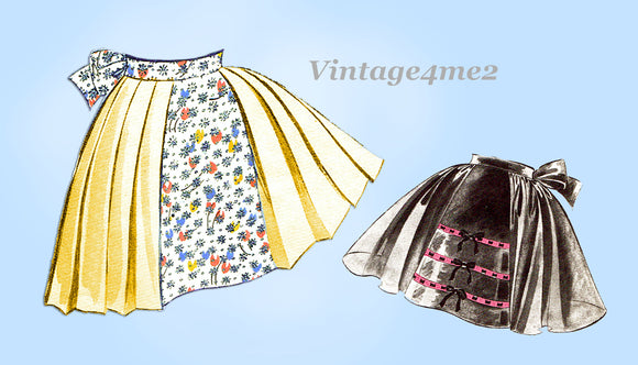 Butterick 6741: 1950s Cute & Easy Misses Apron Fits All Vintage Sewing Pattern