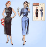1950s Vintage Butterick Sewing Pattern 6801 Uncut Misses Sleeveless Dress Sz 32B
