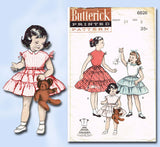 1950s Vintage Butterick Sewing Pattern 6826 Girls 3 Tiered Skirt & Blouse Size 6 - Vintage4me2