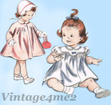 1950s Vintage Butterick Sewing Pattern 6930 Baby Girls Dress and Coat Size 3