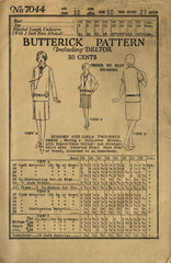1920s VTG Butterick Sewing Pattern 7044 Uncut Little Girls Flapper Dress Size 10